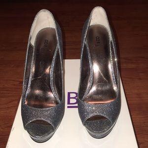Bakers Spark Pewter platform heels